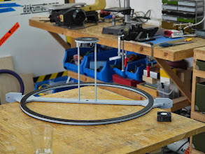 Photo: This part holds the two plexiglass half spheres together
