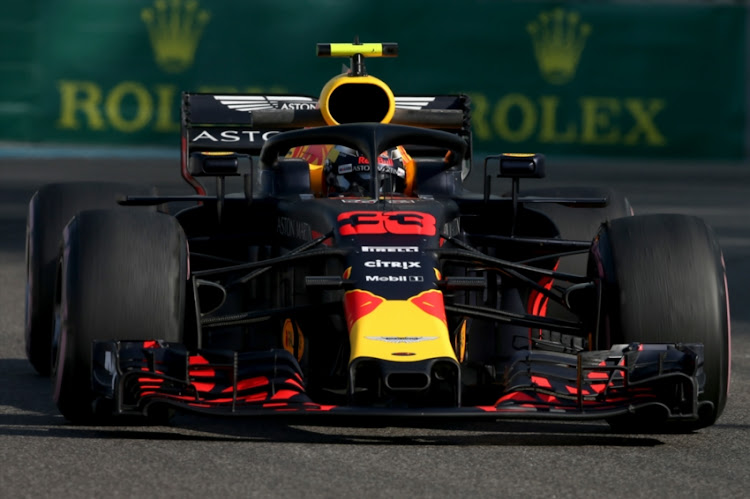 1270decc685 Max Verstappen of the Netherlands driving the (33) Aston Martin Red Bull  Racing RB14