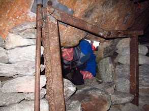 Photo: Andy peeks into Woof Cave
