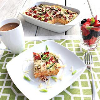 Asparagus and Ham Breakfast Casserole.