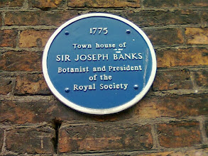 Photo: Blue Plaque commemorating the House, although he lived at Revesby and down south for the most part when not aboard His Majesty's exploits to the New World.