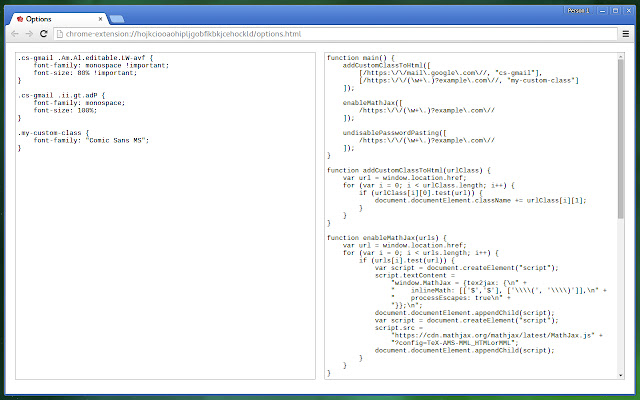Custom Stylesheet & Script