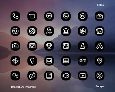 Delux Black - Icon Pack Screenshot