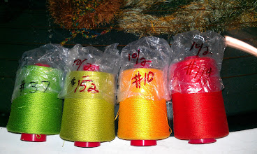 Photo: perle cotton mini cones - 1560 yards, list price was $13.25. Price was $0.0085 per yard, or 85 cents for 100 yards