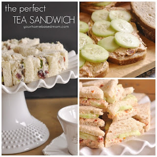 Tea Sandwiches}Cucumber and Sun Dried Tomato & Cranberry Chicken Salad