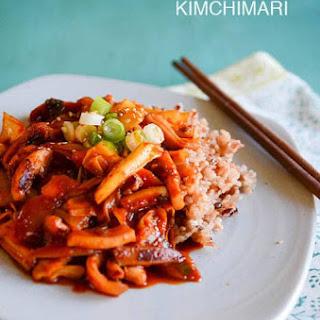 Spicy Squid Stir Fry (Ojingeo Bokkeum).