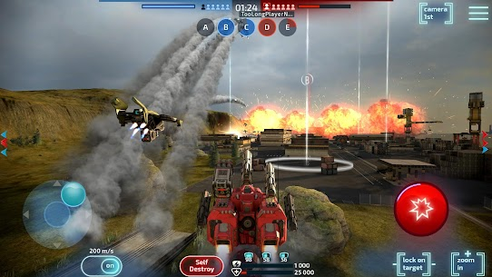 Robot Warfare Mech battle MOD (God Mod/Unlimited Ammo/Rader) 7