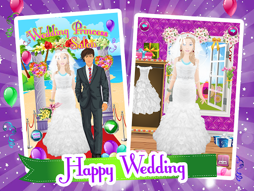 婚禮化妝沙龍遊戲的女孩