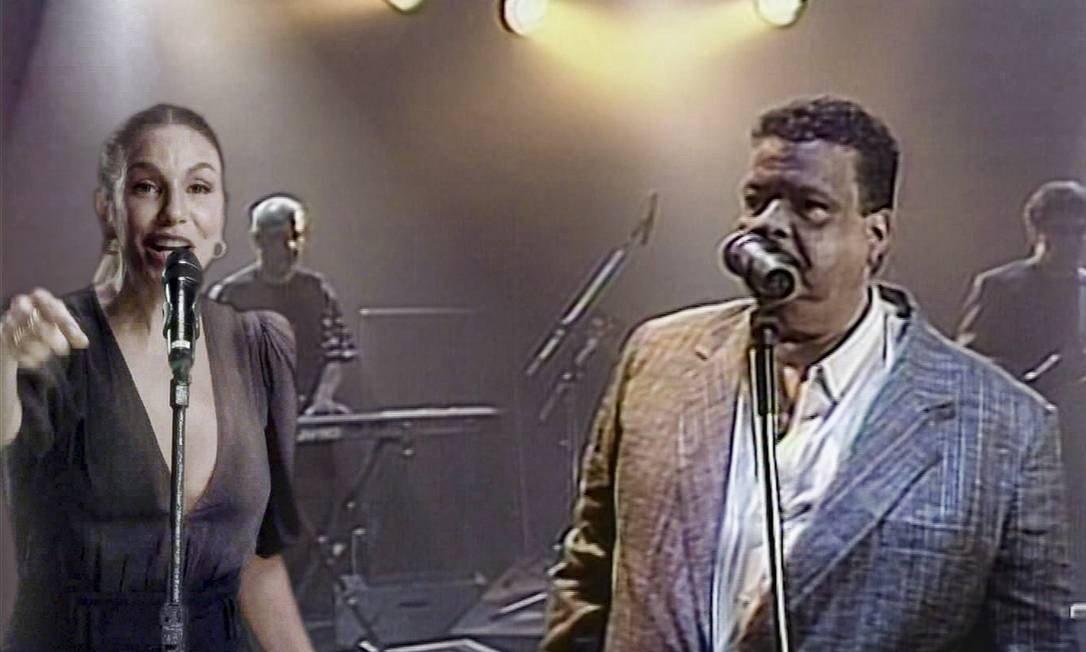Ivete Sangalo faz um dueto com Tim Maia no 'Criança esperança' graças aos efeitos visuais Foto: Divulgação / TV Globo