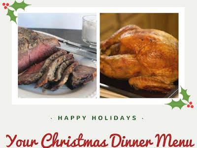 Your Christmas Dinner Menu