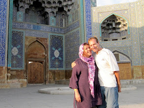 Photo: Day 136 - Us at Masjed Emam Mosque  in Esfahan