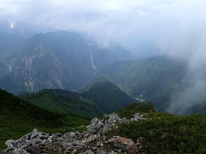 左に黒部別山