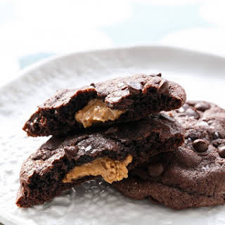 Peanut Butter-Stuffed Chocolate Cookies.