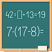 Math on chalkboard APK