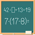 Math on chalkboard icon