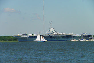 Photo: The USS Yorktown from the park