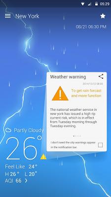 My Weather Reporter - screenshot