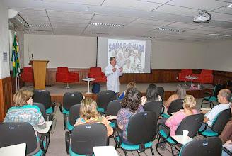 Photo: Grupo Saúde e Vida com a palestra Saber para Evitar