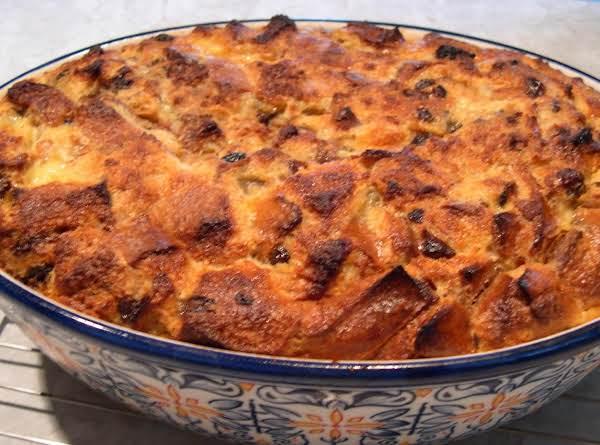 Custard Raisin Bread Pudding