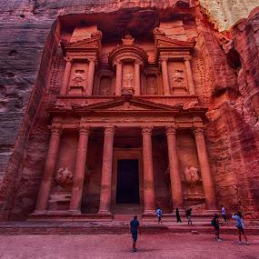 Petra, Jordan by Rafael Uy - Buildings & Architecture Public & Historical ( landmark, desert, pwc82, jordan, rose city, nabaldian, travel, petra, middle east )