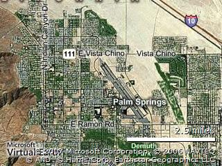 An Arial View of Palm Springs