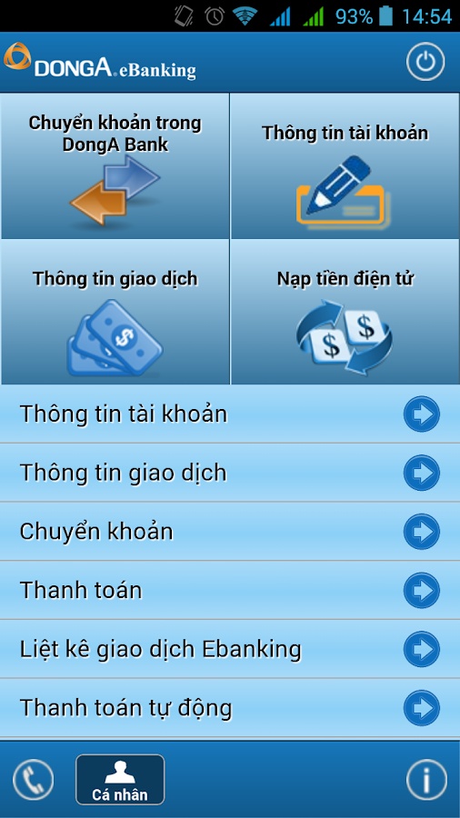 DongA Internet Banking- screenshot