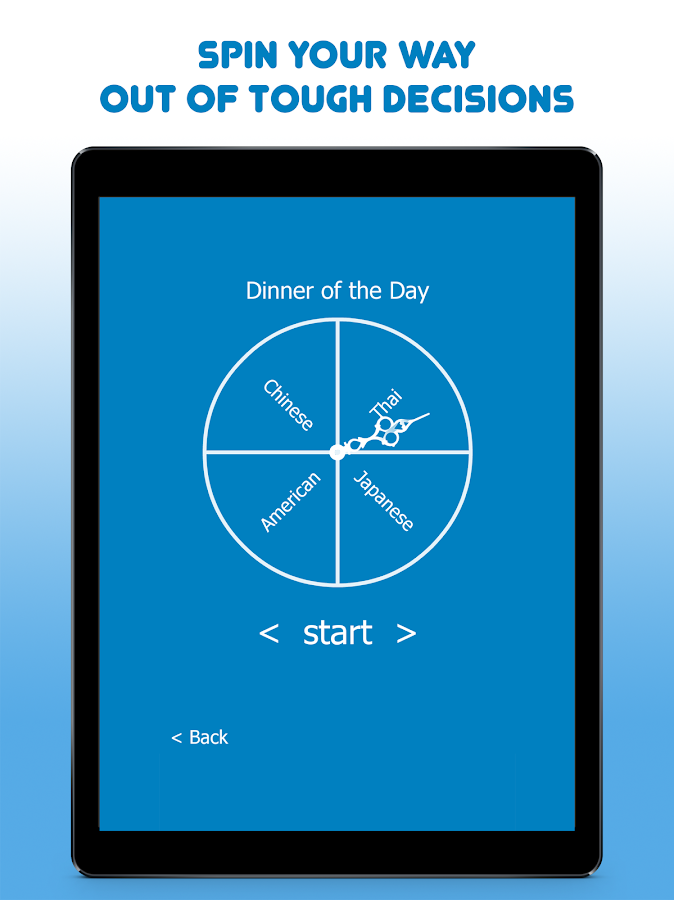 Decision Maker Spinner of Fate- screenshot