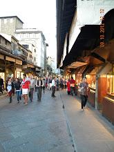 "Photo: One-bridge stores on the Arno river (""Ponte vecchio"" - The old bridge)"