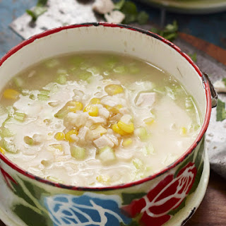 Chicken, Sweet Corn and Rice Soup