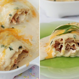 Three-cheese Chicken Lasagna Roll-ups