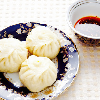 The Hirshon Kawa Manta (Uyghur Lamb and Pumpkin Dumplings) & Dipping Sauce