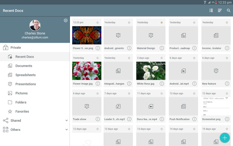 Zoho Docs- screenshot
