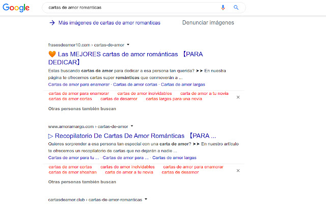 Shows People also search keywords in Google