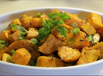 Spicy Roasted Sweet Potatoes Recipe