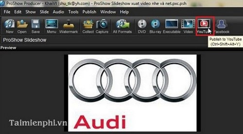 Xuất video HD trong Proshow Producer