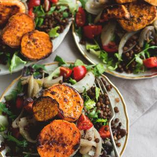 Du Puy Lentil Salad with Fennel and Sweet Potato