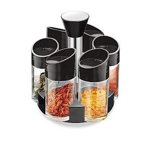 Suport rotativ cu 6 recipiente pentru condimente