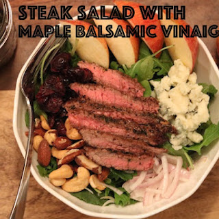 Steak Salad with Maple Balsamic Vinaigrette