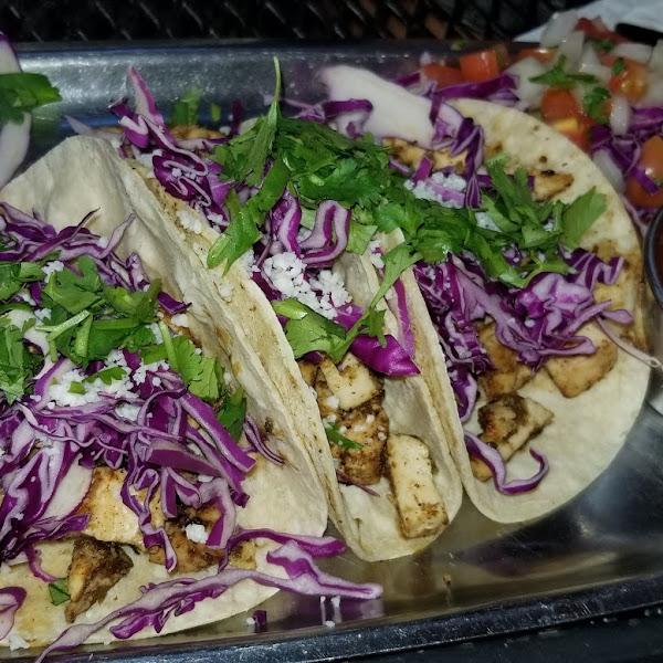 Chicken tacos , spicy
