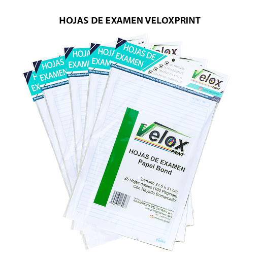 hojas de examen veloxprint 25und
