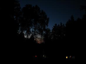 Photo: Večerní nebe nad malou loukou.