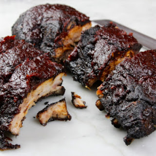 Coffee Bourbon Ribs with Bourbon Black Pepper Glaze
