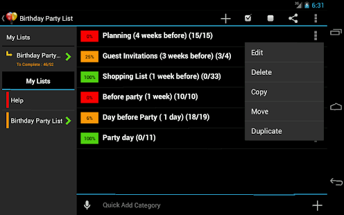 Birthday Planner- screenshot thumbnail