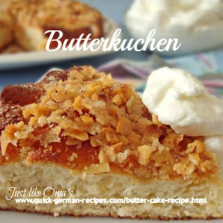 German Butter Cake (using Bread Machine).