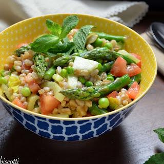 Minty Pea Farro Spring Salad