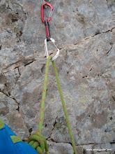 Photo: Cuerda correctamente pasada por cinta exprés