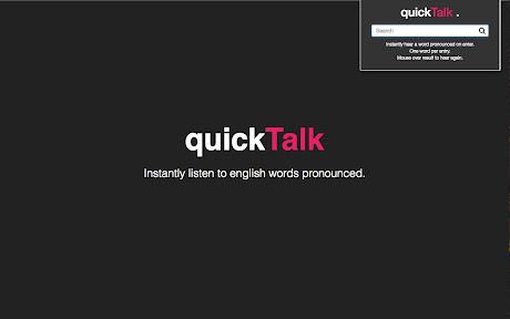 Quick Talk - Free instant pronunciation Chrome插件下载crx