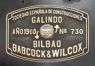 Photo: Plaque du constructeur