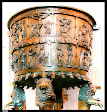 Photo: Our great-great-great- … grandfather Jacob, born in 1650, was, like his siblings, was baptized in this beautiful baptismal font in the Nikolai church in the city of Kiel. The cauldron has been cast in 1344 in bronze.   http://goo.gl/fNofQJ