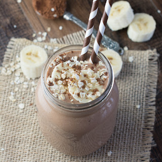 Coconut, Banana & Chocolate Breakfast Smoothie.